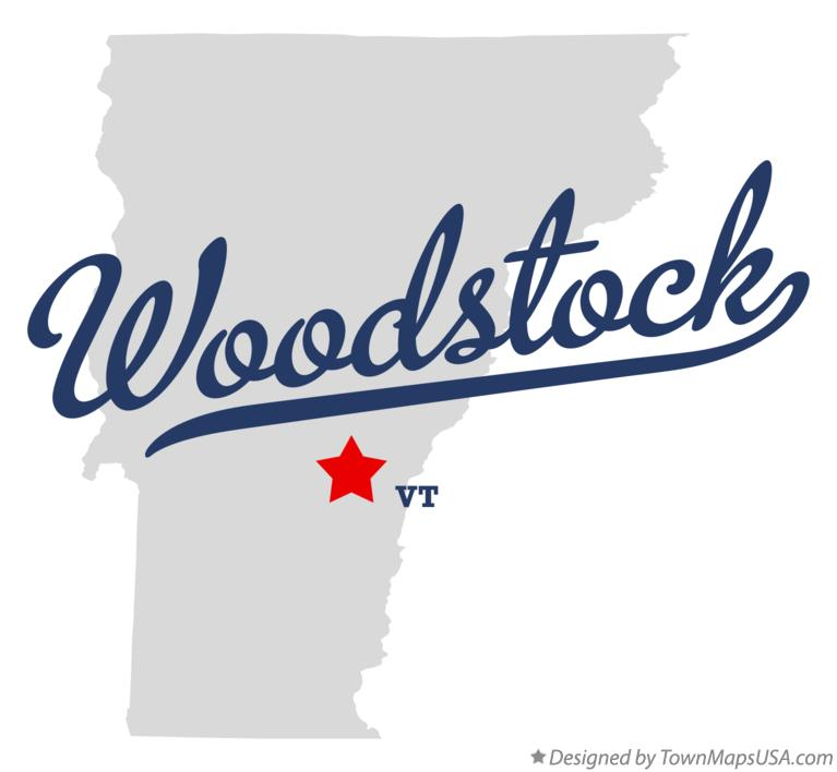 Map of Woodstock Vermont VT