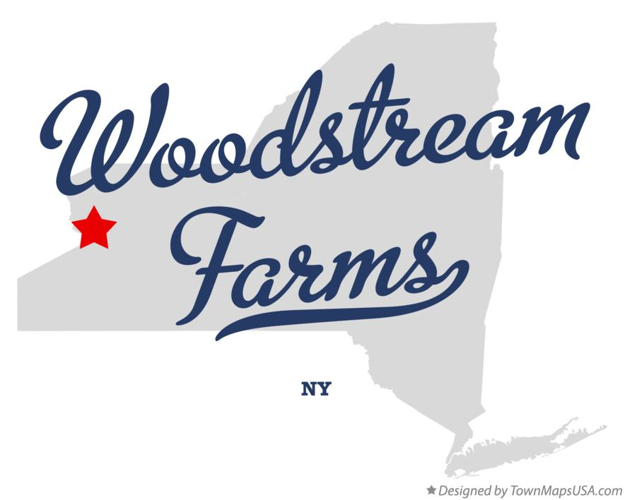 Map of Woodstream Farms New York NY