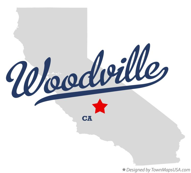 Map of Woodville California CA