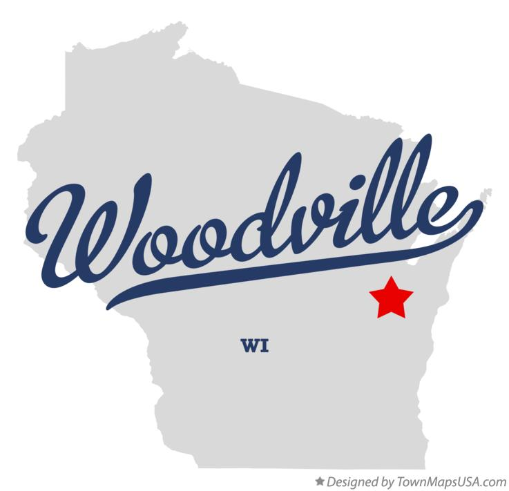 Map of Woodville Wisconsin WI
