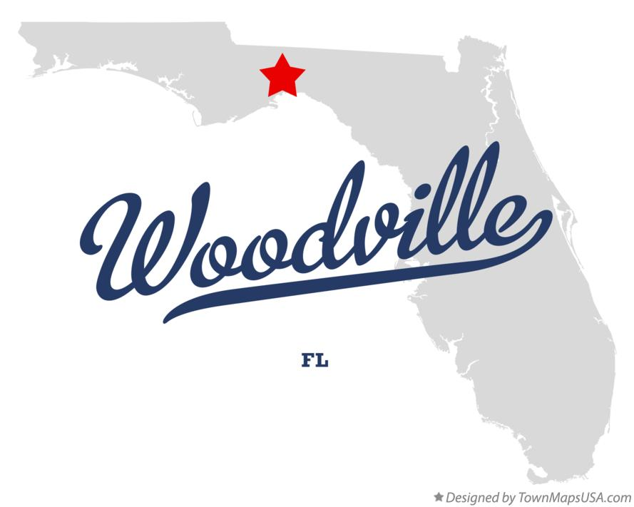 Map of Woodville Florida FL