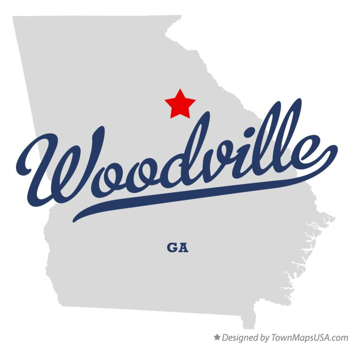 Map of Woodville Georgia GA