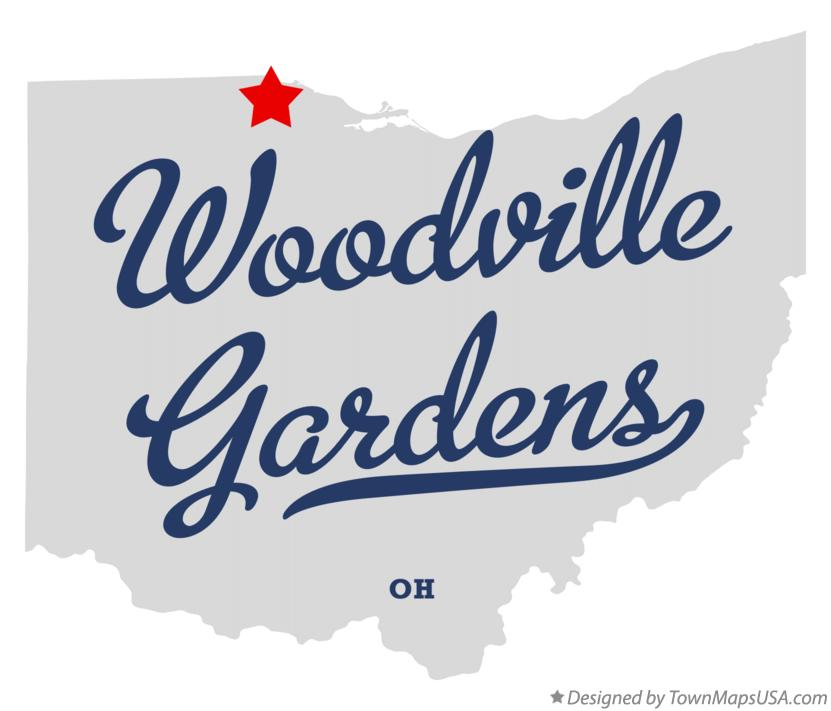 Map of Woodville Gardens Ohio OH
