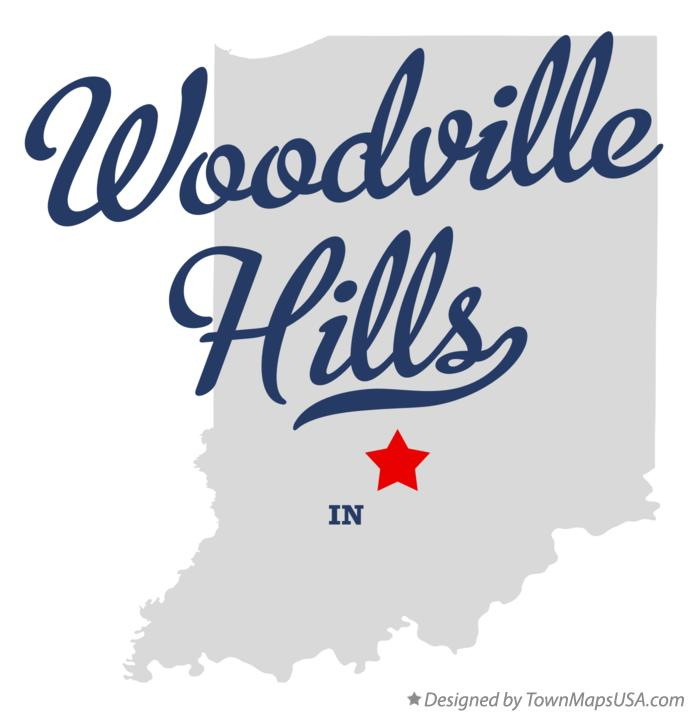 Map of Woodville Hills Indiana IN