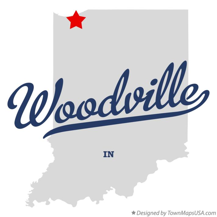 Map of Woodville Indiana IN