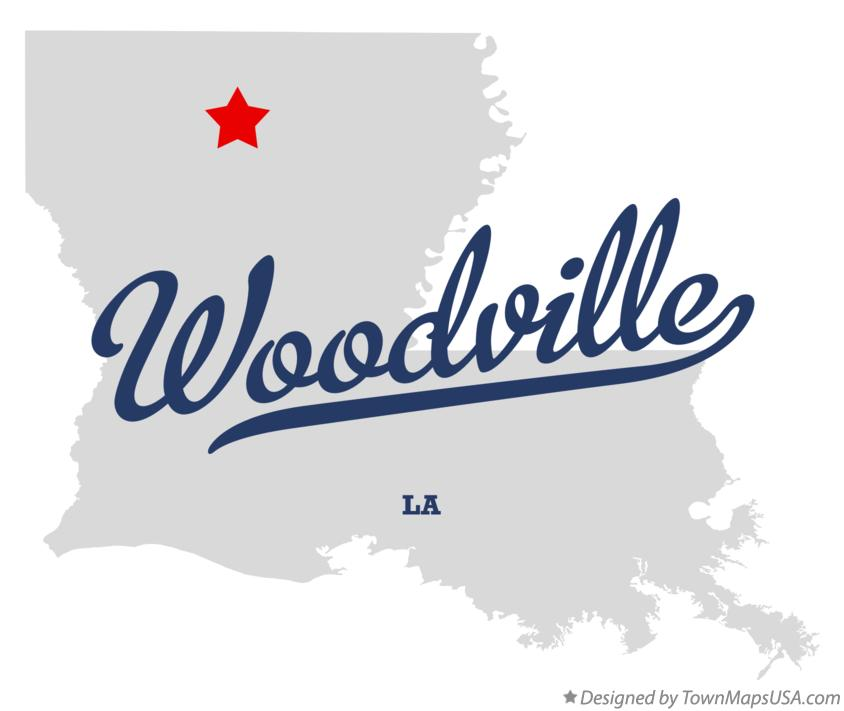 Map of Woodville Louisiana LA