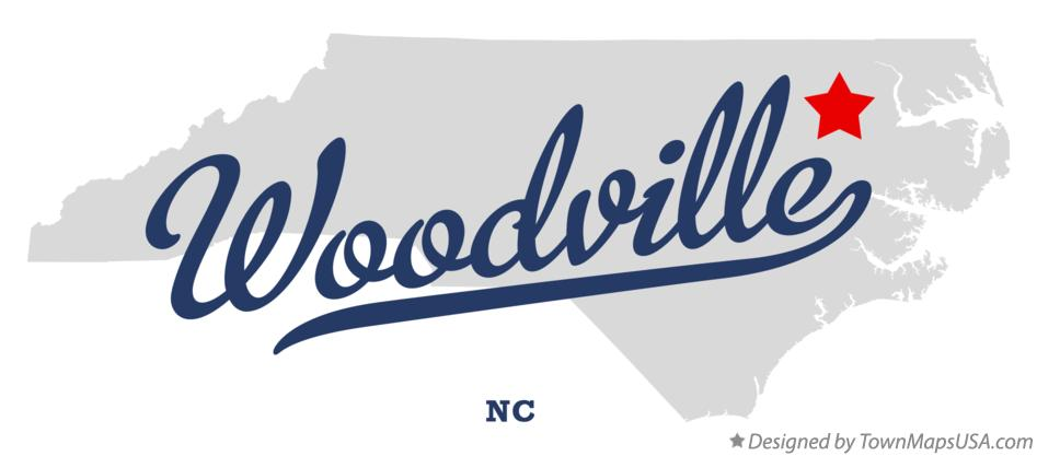 Map of Woodville North Carolina NC