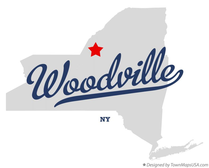 Map of Woodville New York NY