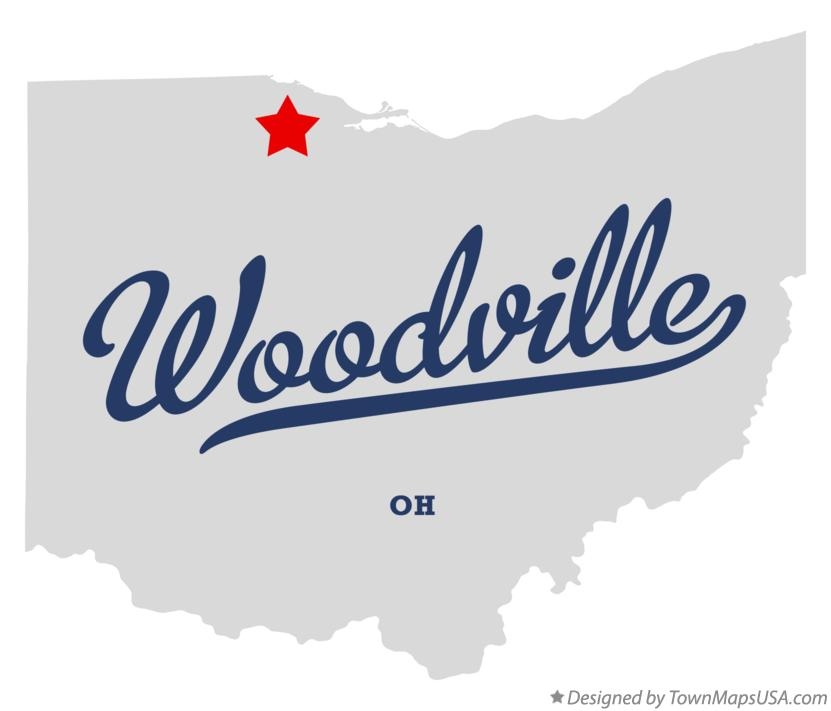 Map of Woodville Ohio OH
