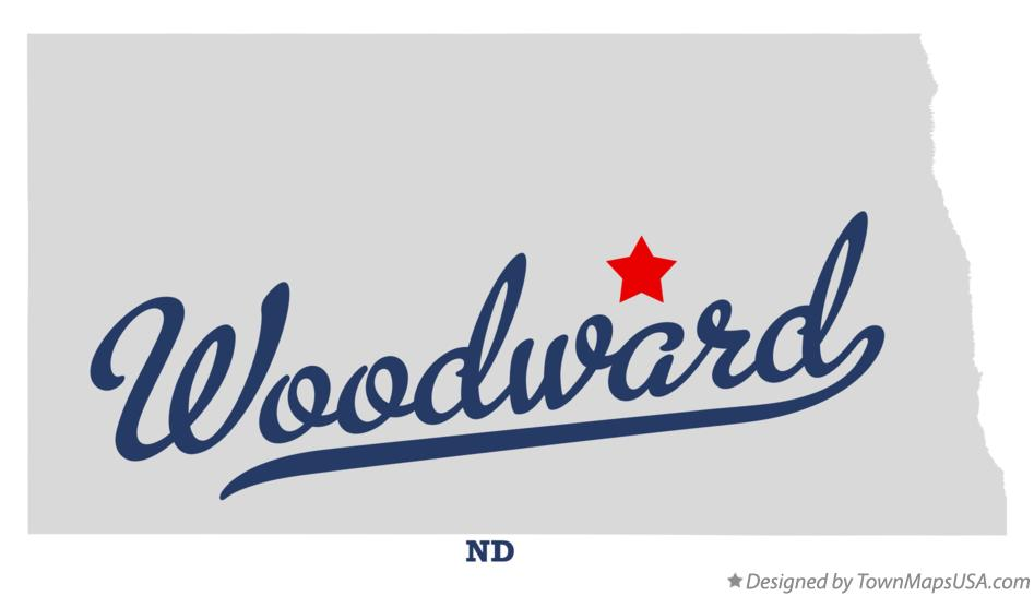 Map of Woodward North Dakota ND