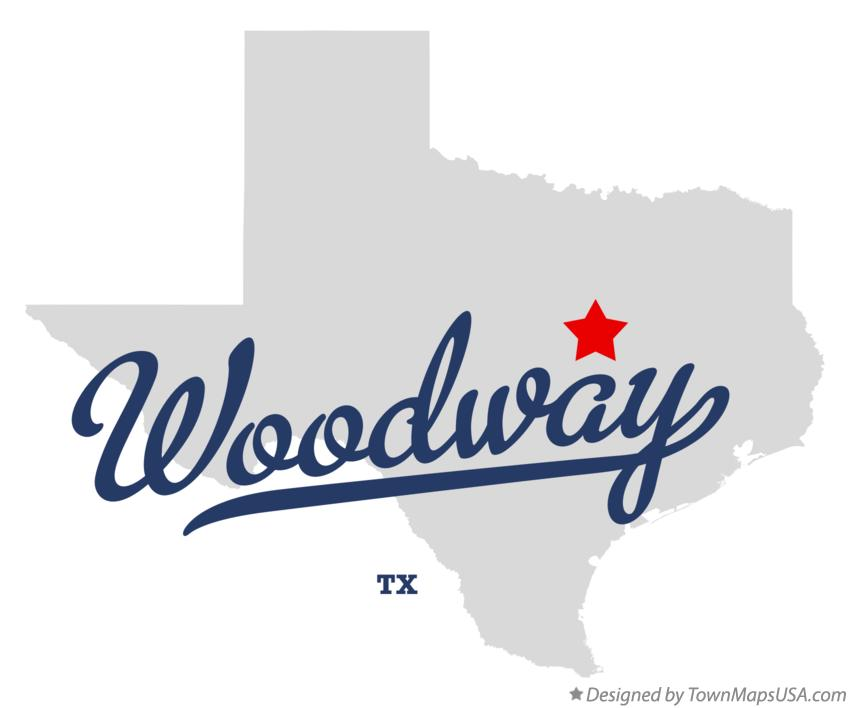 Map of Woodway Texas TX