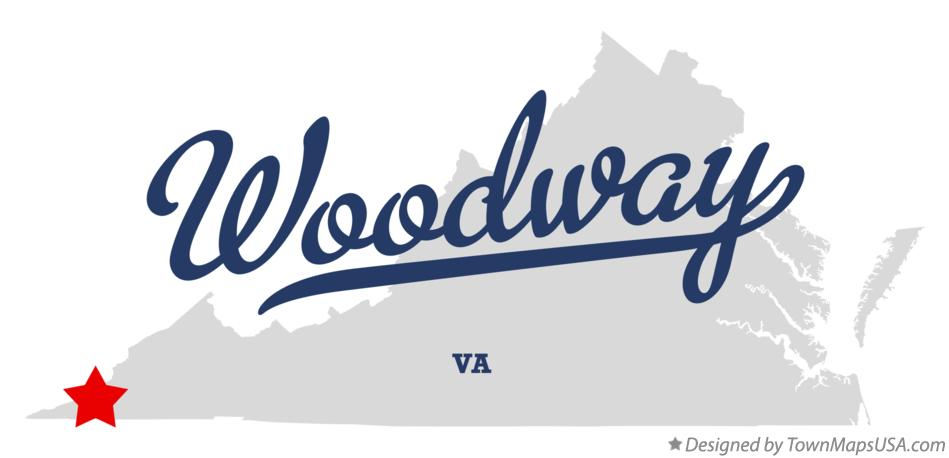 Map of Woodway Virginia VA