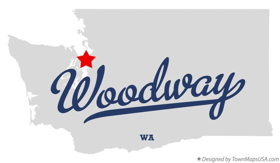 Map of Woodway Washington WA