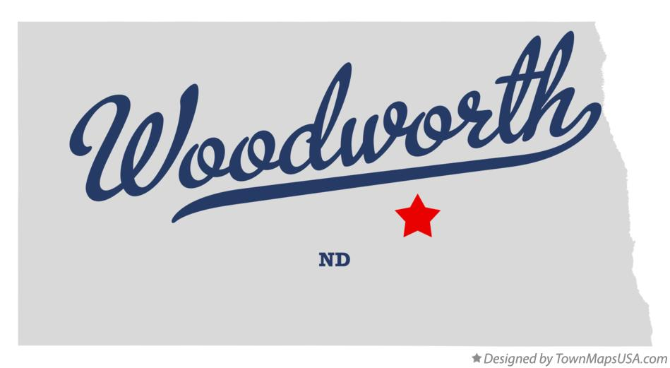 Map of Woodworth North Dakota ND