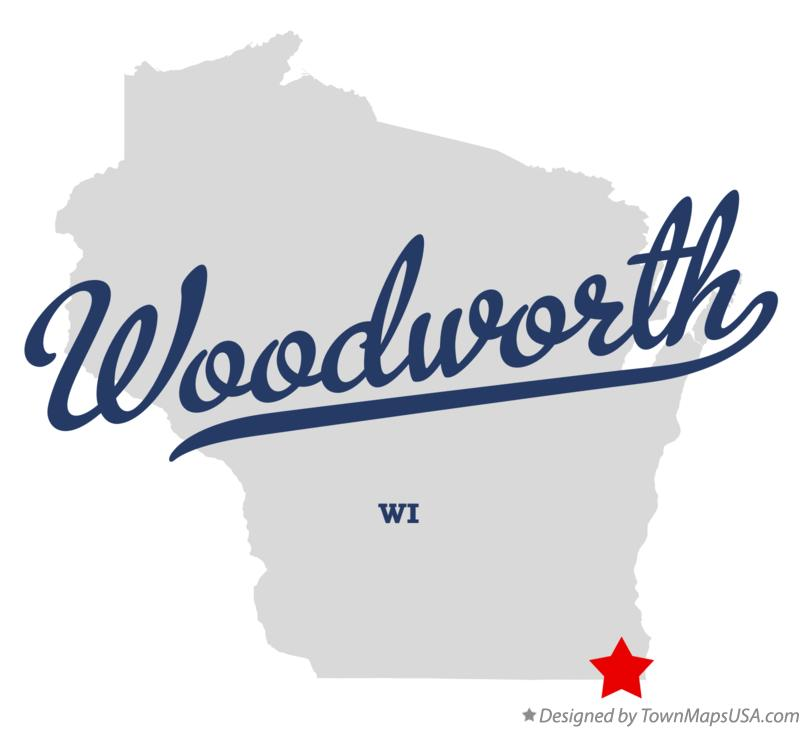 Map of Woodworth Wisconsin WI