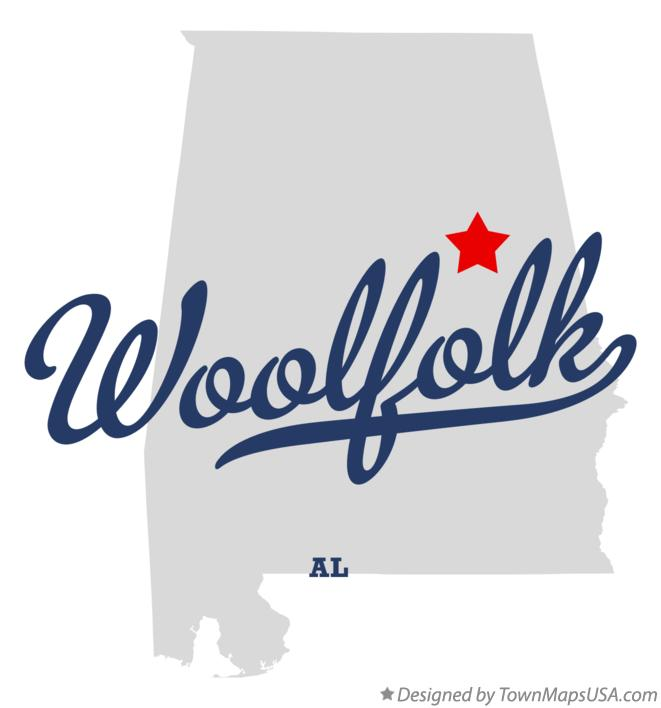 Map of Woolfolk Alabama AL