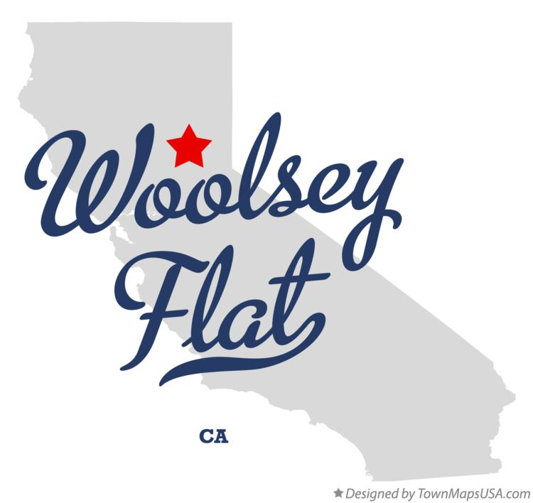 Map of Woolsey Flat California CA