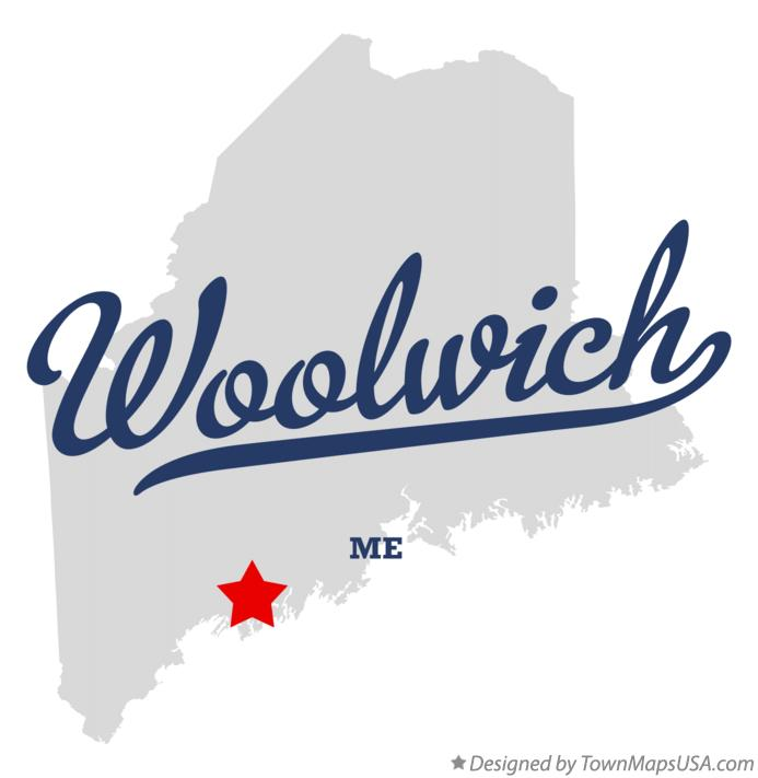 Map of Woolwich Maine ME