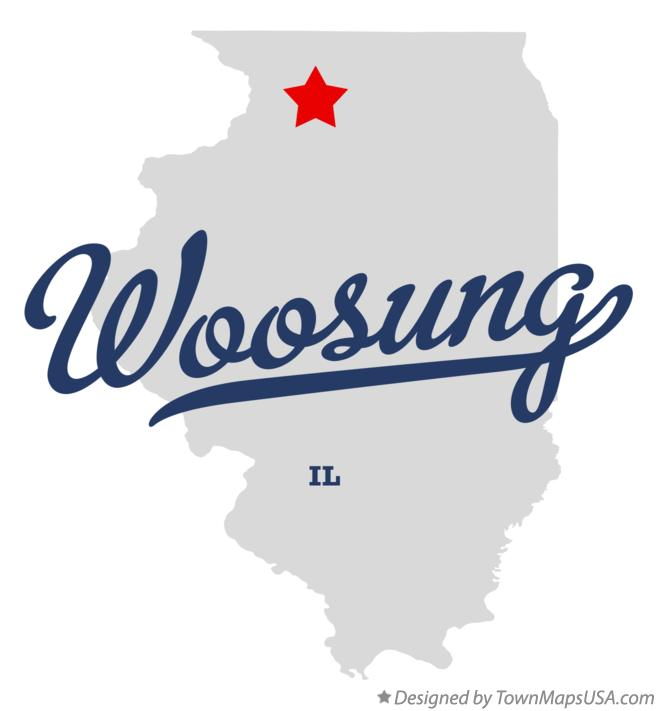 Map of Woosung Illinois IL