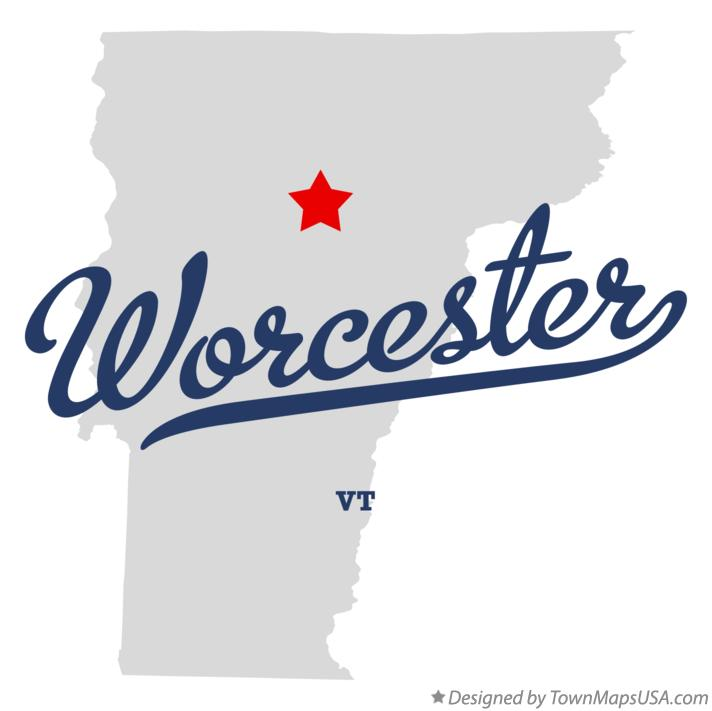 Map of Worcester Vermont VT