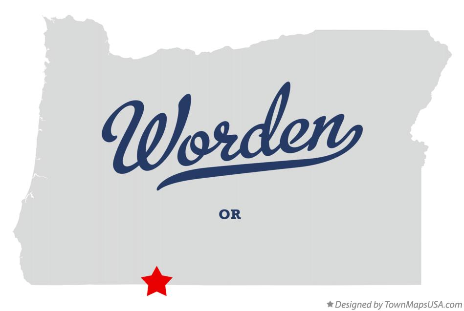 Map of Worden Oregon OR