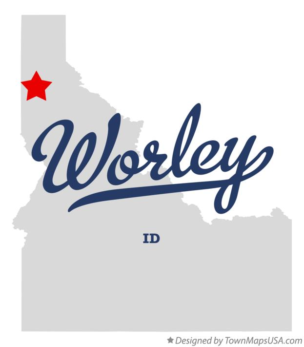 Map of Worley Idaho ID
