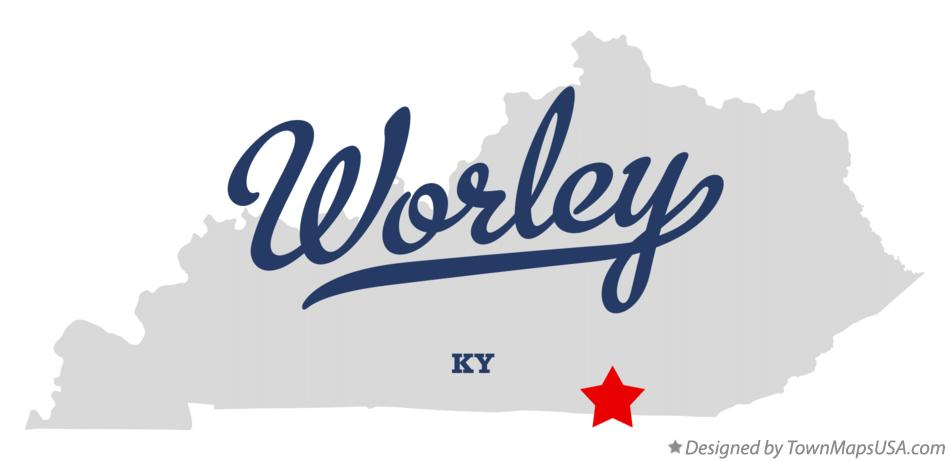 Map of Worley Kentucky KY