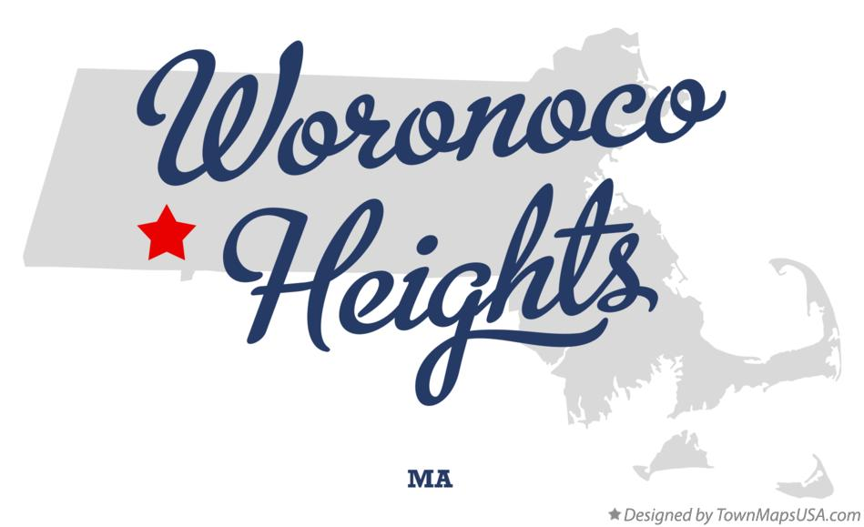 Map of Woronoco Heights Massachusetts MA