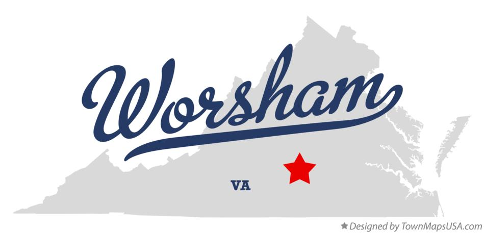 Map of Worsham Virginia VA