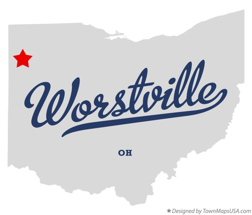 Map of Worstville Ohio OH