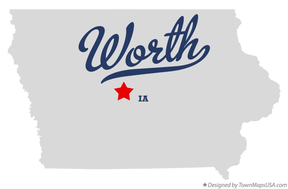 Map of Worth Iowa IA