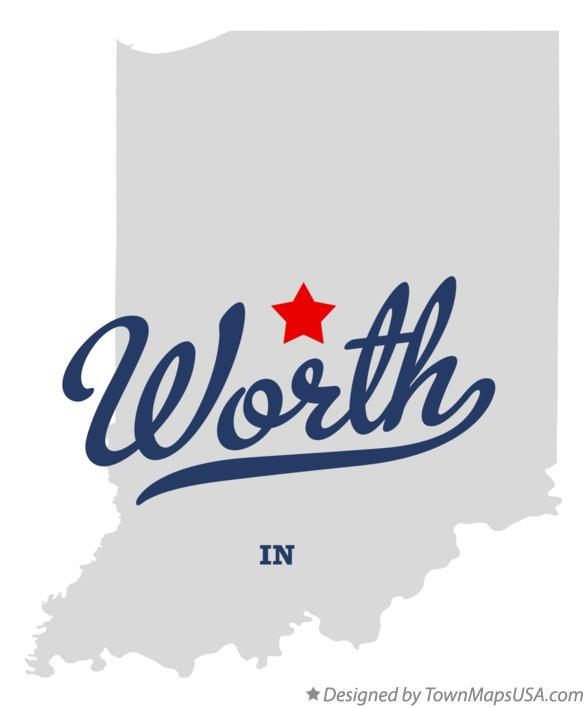 Map of Worth Indiana IN