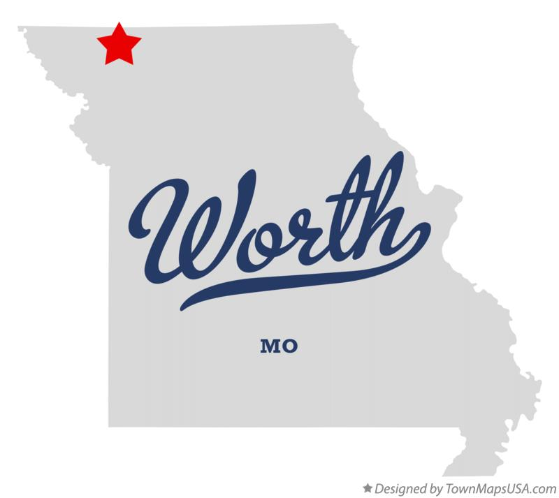 Map of Worth Missouri MO