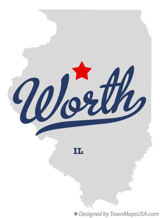 Map of Worth Illinois IL