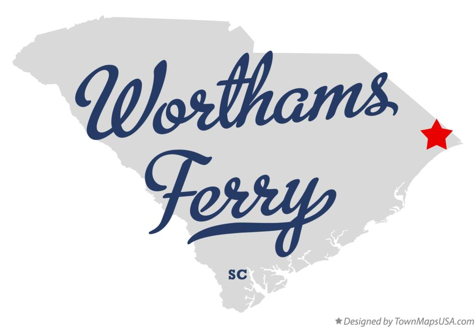 Map of Worthams Ferry South Carolina SC