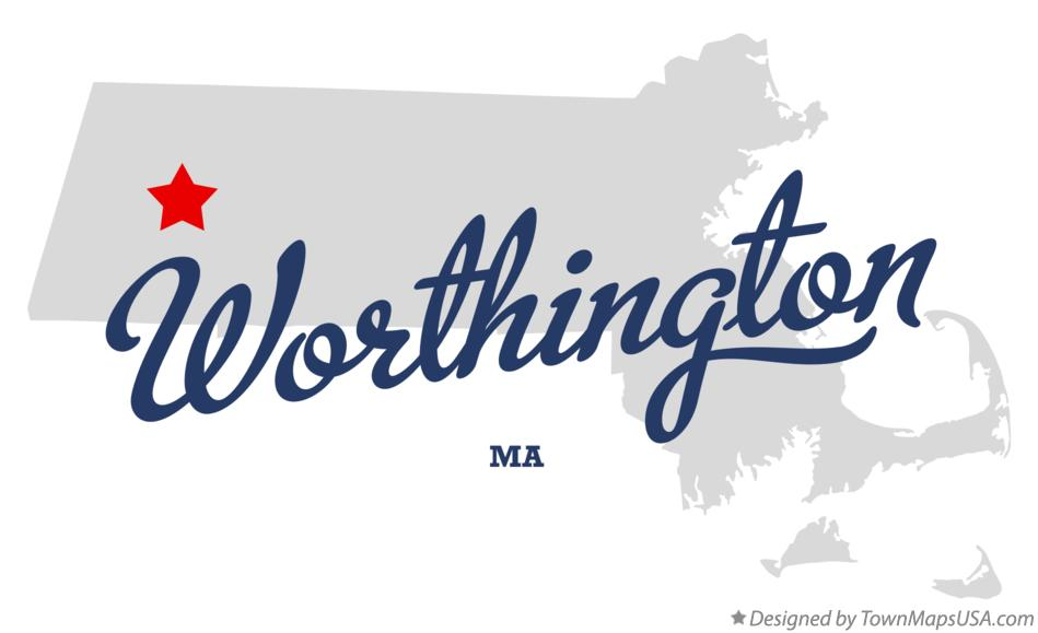 Map of Worthington Massachusetts MA