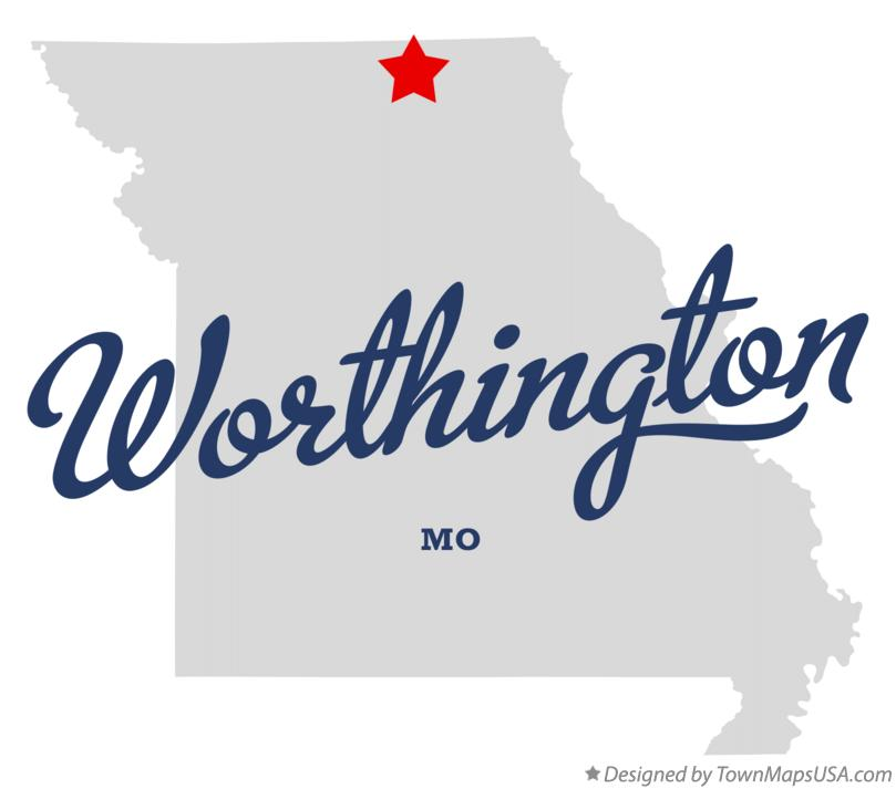 Map of Worthington Missouri MO