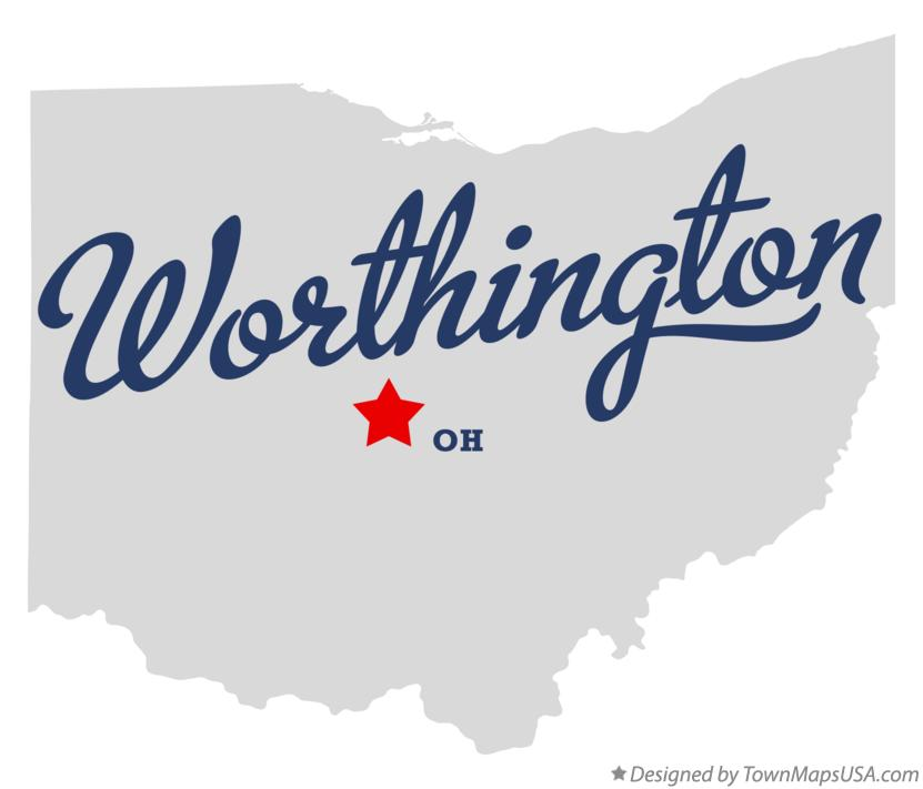 Worthington (OH) United States  city photos gallery : Map of Worthington Ohio OH