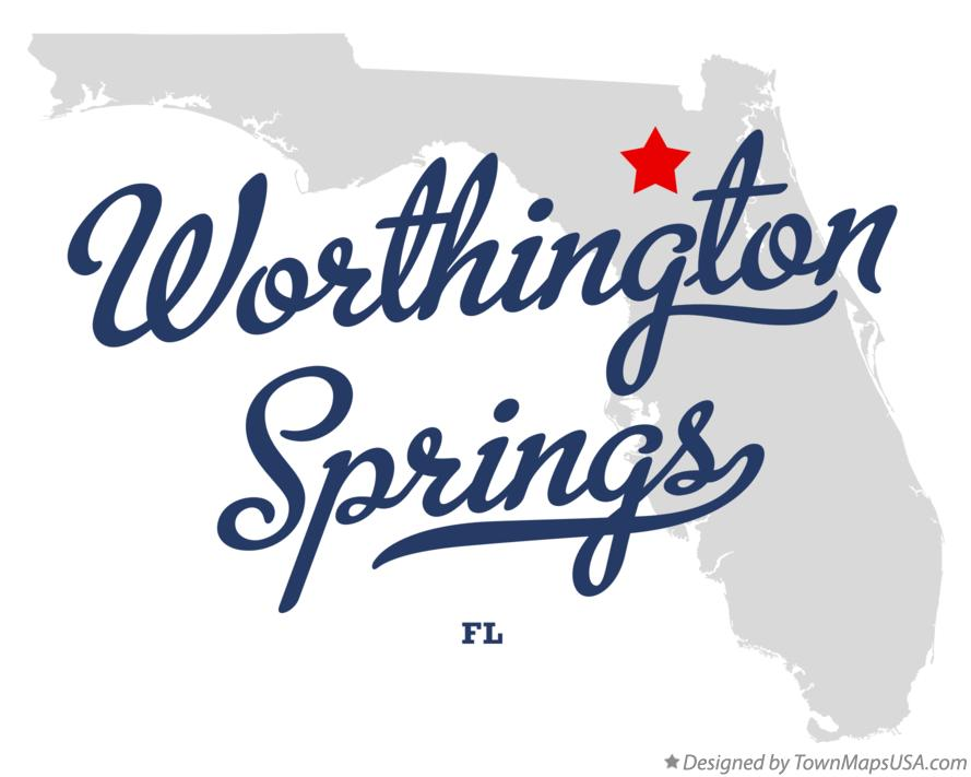 Map of Worthington Springs Florida FL