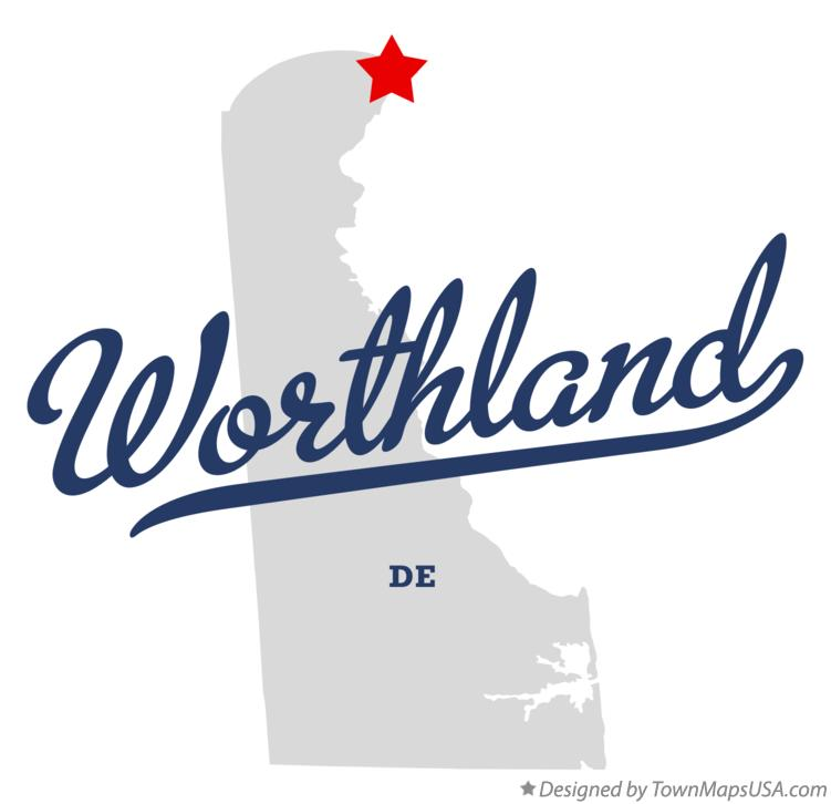 Map of Worthland Delaware DE