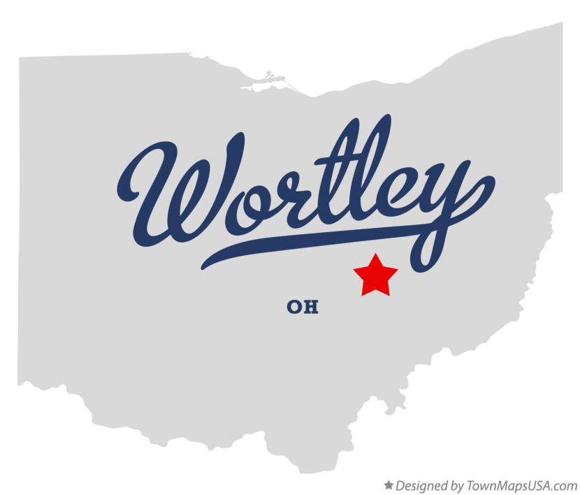 Map of Wortley Ohio OH