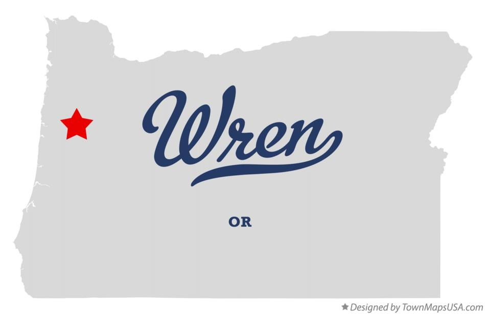 Map of Wren Oregon OR