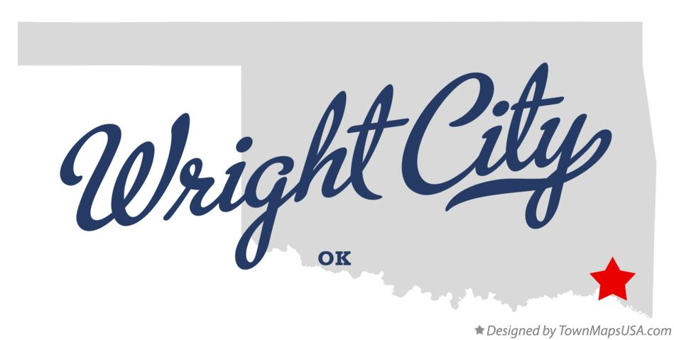 Map of Wright City Oklahoma OK