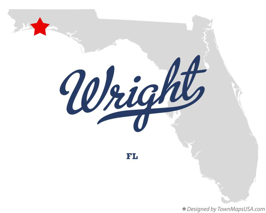 Map of Wright Florida FL