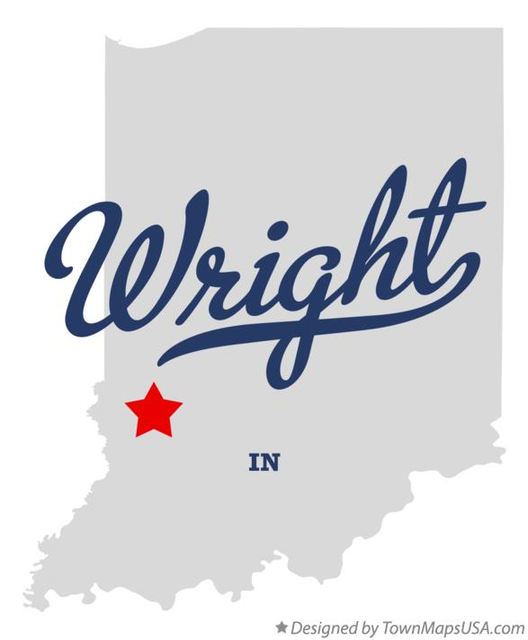 Map of Wright Indiana IN