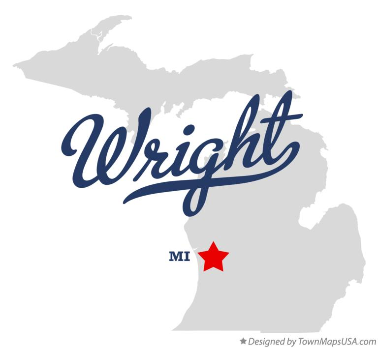 Map of Wright Michigan MI