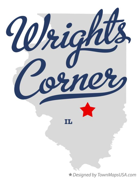 Map of Wrights Corner Illinois IL