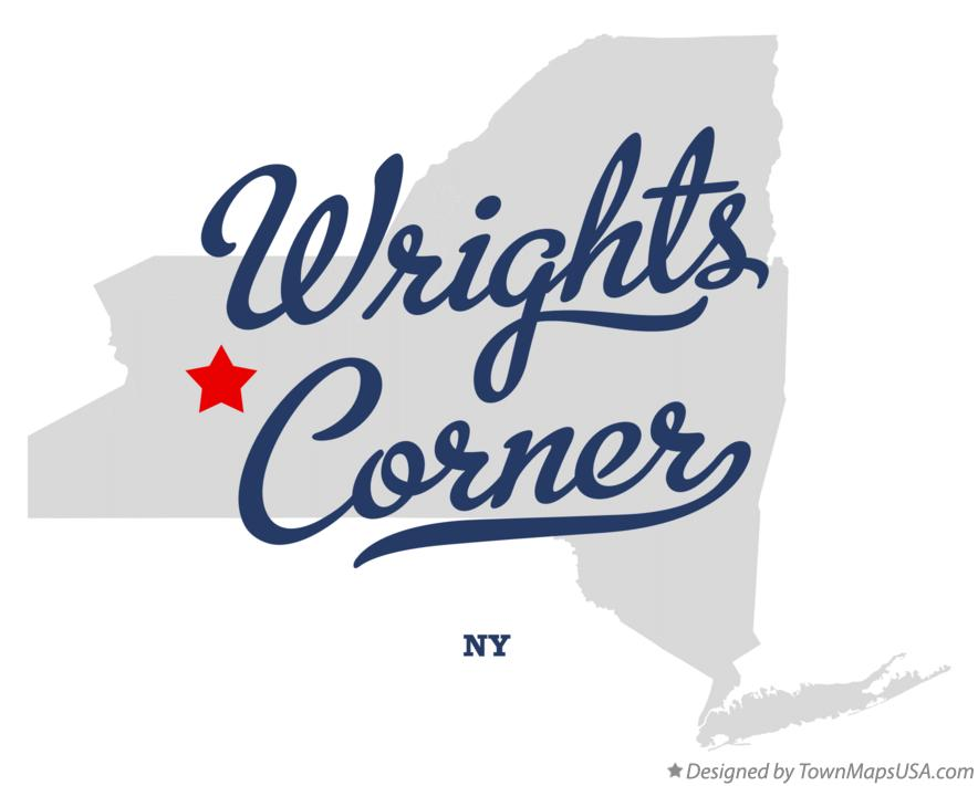 Map of Wrights Corner New York NY