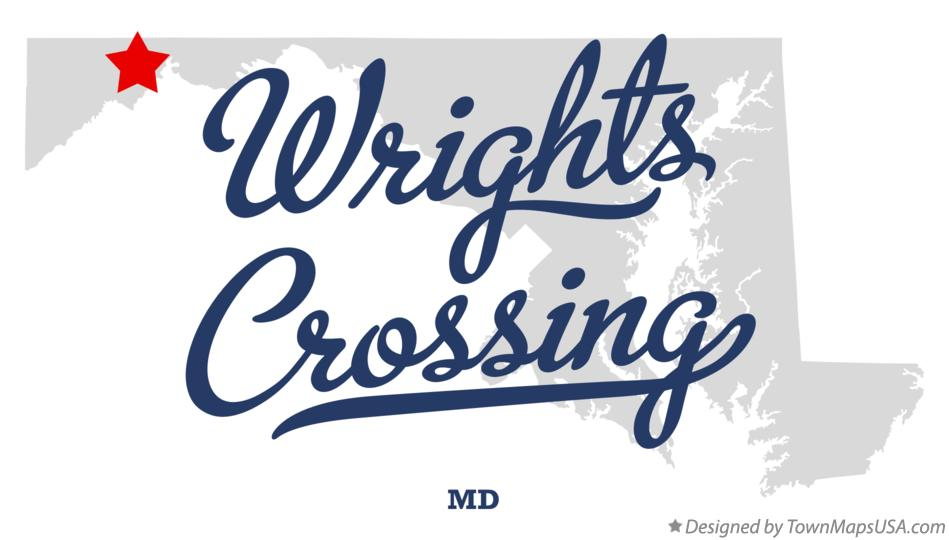 Map of Wrights Crossing Maryland MD