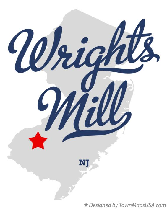 Map of Wrights Mill New Jersey NJ